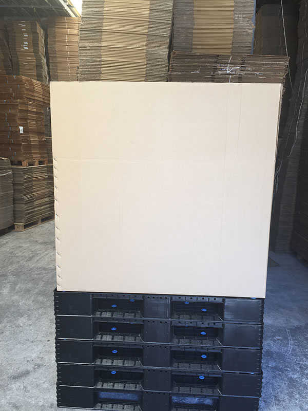 Χαρτοκιβώτιο ΓΙΓΑΣ πάνω σε πλαστική παλέτα
